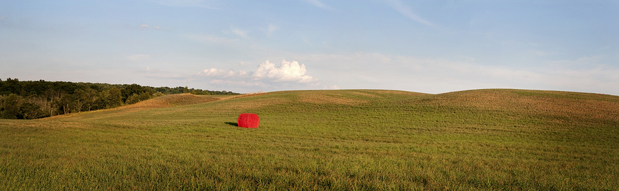 One Red Bale; County Route 21 : Rural Impressions : Diane Smook Photography: Nature, Dance, Documentary