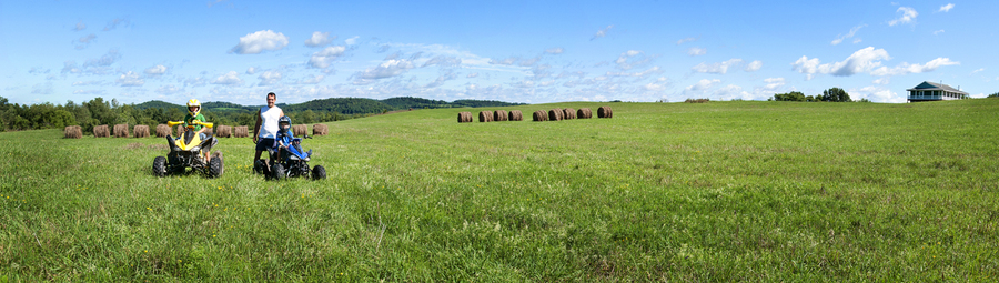 Panorama with Family; McCagg Road : Rural Impressions : Diane Smook Photography: Nature, Dance, Documentary